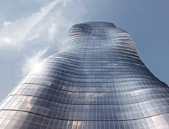 A sinuous tower flaunts Beyonce like curves