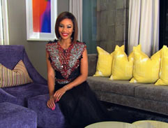 Bonang dazzles in embellished gown