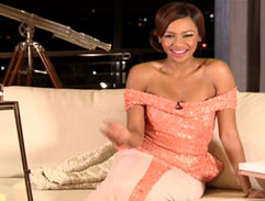 Bonang glows in a pink gown