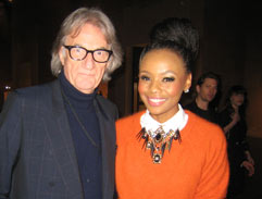 Bonang interviews Sir Paul Smith at London Fashion Week