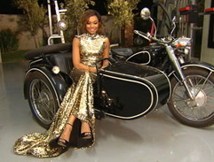 Bonang Matheba sparkles in gold