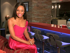 Bonang pink dress in honour of Breast Cancer Awareness