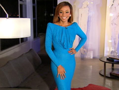Bonang's blue dress