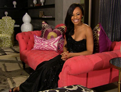 Bonang's glamorous black dress