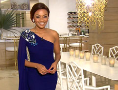 Bonang's regal blue dress