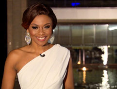 Bonang's white gown
