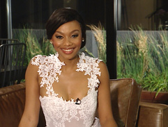 Bonang's white gown by Gert-Johan