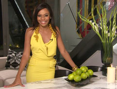 Bonang's yellow gown