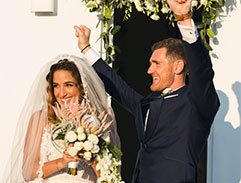 Cameron van der Burgh and Nefeli Valakelis get married in Greece