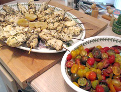 Seth Rotherham's Chicken Skewers & Tomato Salad