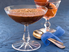 Chocolate and red wine zabaglione