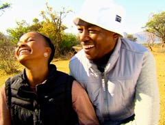 Chris and Tsholofelo Matshaba celebrate their anniversary