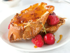 Crispy almond French toast