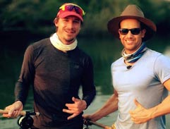 Dale Steyn takes to the river