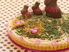 Easter peppermint crisp tart