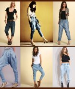 Denim Harem Pants
