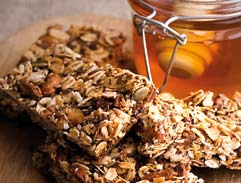 Flaxseed, honey nut granola bars