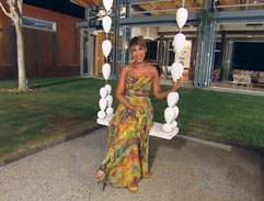 Gorgeous Ursula hosts Top Billing in maxi dress
