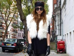 How to wear the trend: *Faux fur gilets