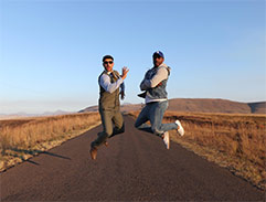 Jonathan and Stevel Marc explore the Drakensberg
