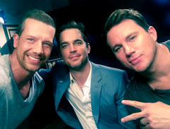 Jonathan meets the cast of Magic Mike XXL