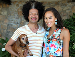 Marc Lottering and his dog Tina