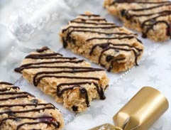 Nutty Christmas cake bars