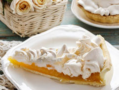 Peach and Custard Meringue Pie