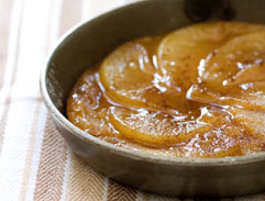 Spiced pear tarte tatin