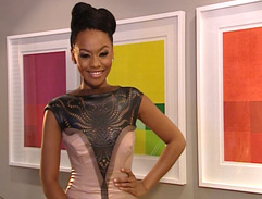 Top Billing presenter Bonang's lazer cut dress