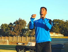 Top Billing spends the day with footballer George Lebese