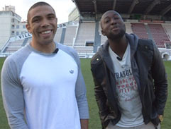 Top Billing visits Bryan Habana in France