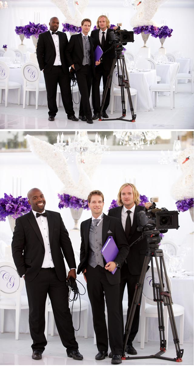 Top Billing Crew at wedding
