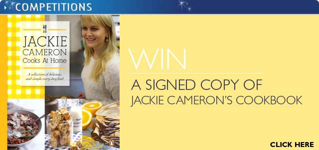 Win a signed copy of Jackie Cameron's cookbook