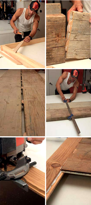 DIY reclaimed timber cupboard 2
