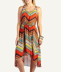 Woolworths fashion tribal chevron stripe dress