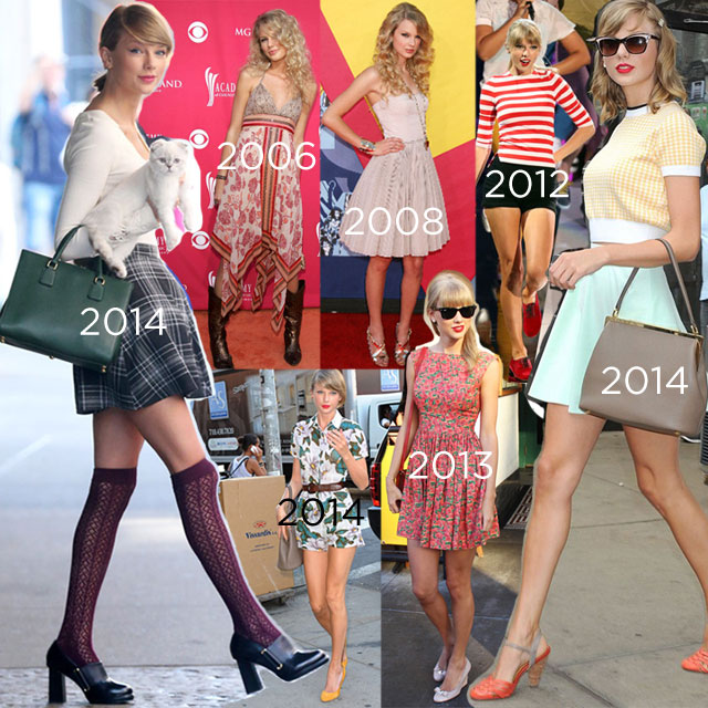 Style evolution of Taylor Swift