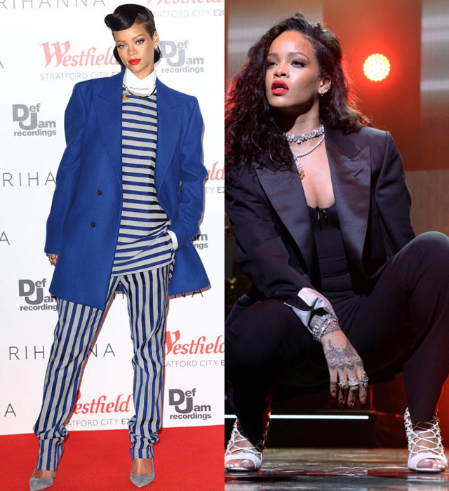Rihanna shows us how to rock menswear