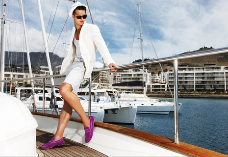 Top Billing fashion tip purple suede shoes