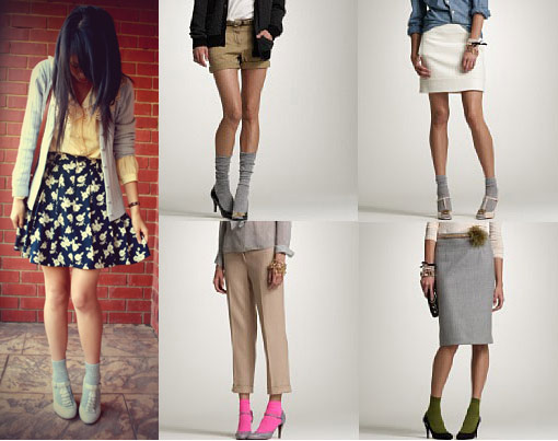 Weekly Fashion Tip, how to wear socks and heels