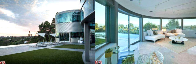 Justin Bieber glass mansion in Beverly Hills