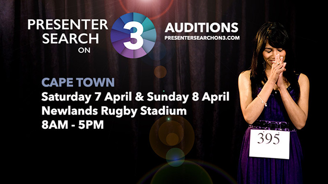 Presenter Search on 3 Audition Dates Cape Town