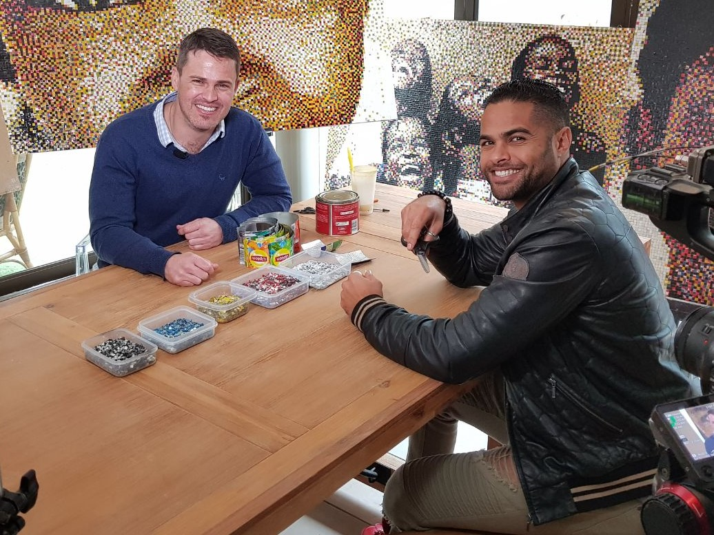 Top Billing presenter Chris Jaftha and Izak Fourie