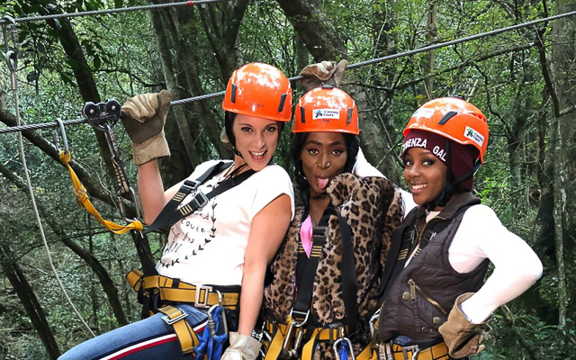 The Trio About To Zipline