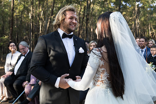 Bulls prop Pierre Schoemann gets married 1