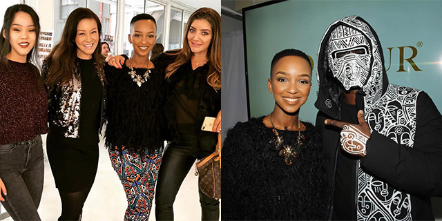 Nandi Madida at New York Fashion Week