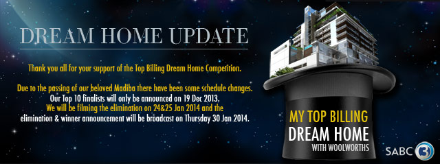 Top Billing Dream Home update