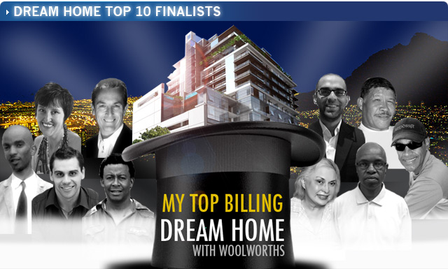 Top billing weekly top hat competition winners for Dream home website